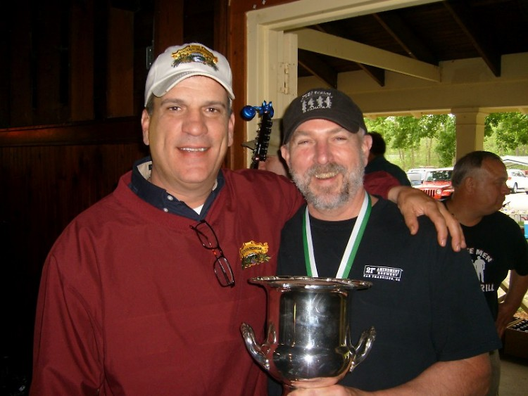 2012 winner Russ Smith (right) holds the cup with Jim Macielak of Sierra Nevada Brewing