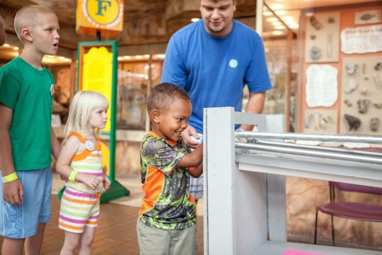 Children learning at Maker Faire Grand Rapids