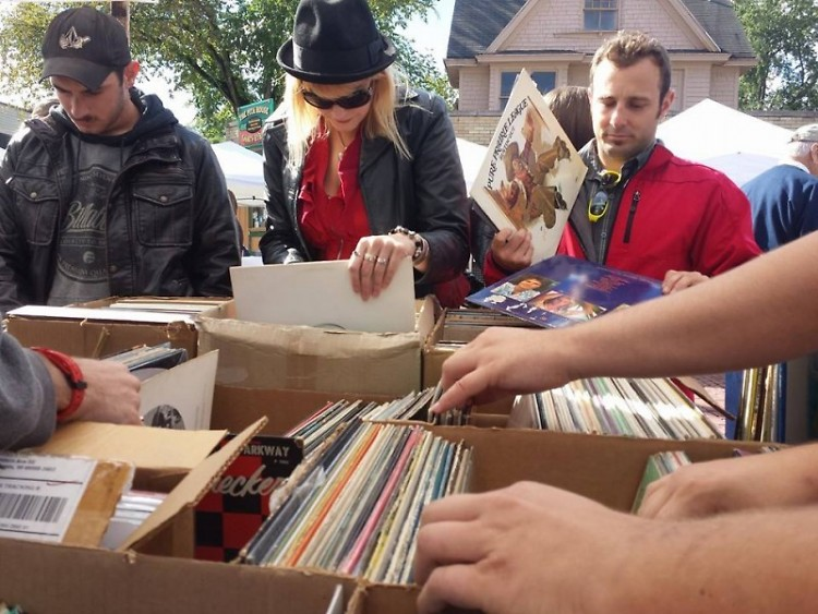 Fans look through records at last year's Record Sale.