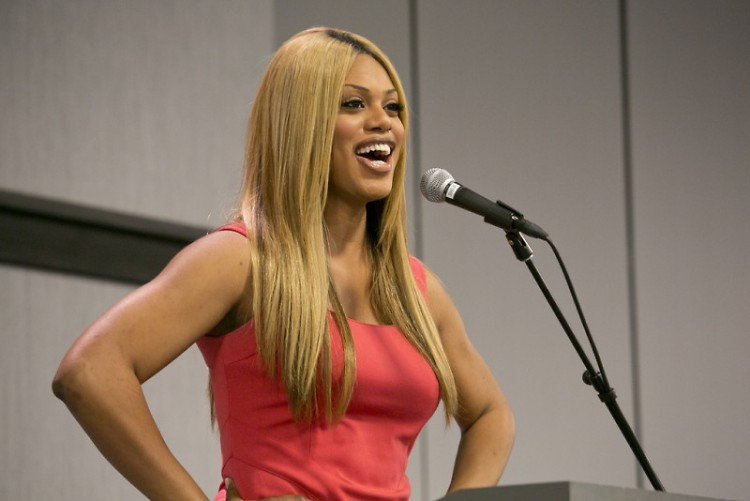 Laverne Cox engages with her audience at a previous speaking event.