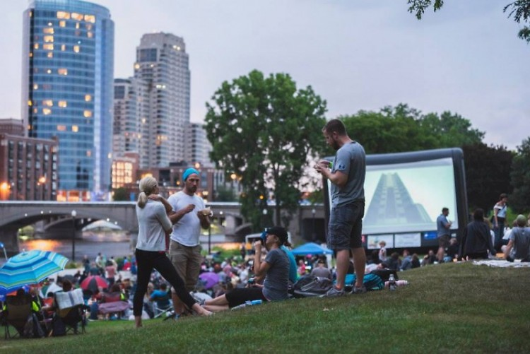 Showing of The Matrix at Movies at the Park