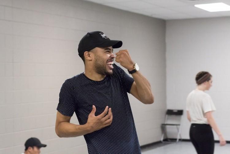 Deavondre Jones dancing during his drop-in class