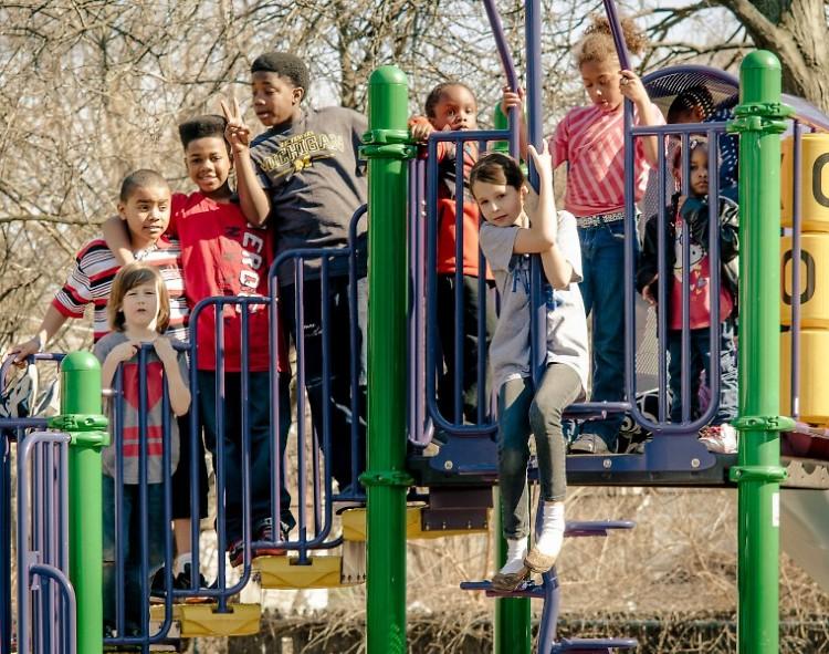 Kids playing at Joe Taylor Park