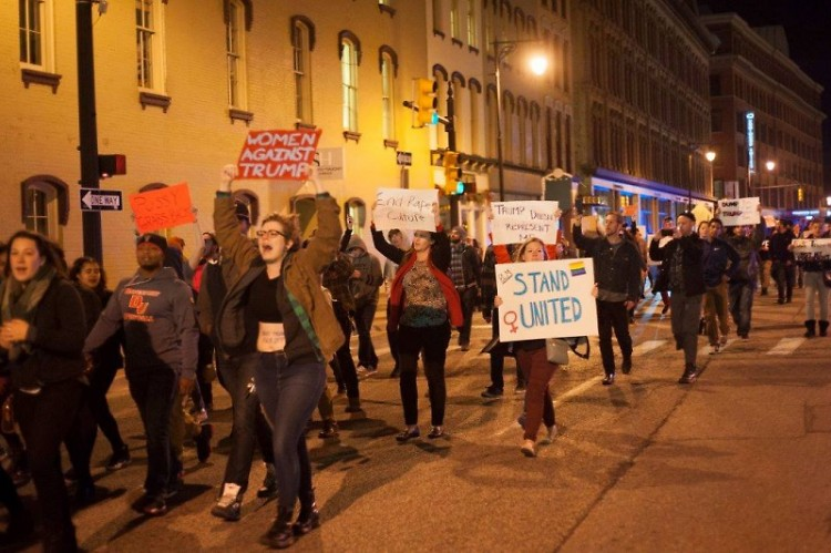 #NotMyPresident march in Grand Rapids on Thursday, November 10, 2016.