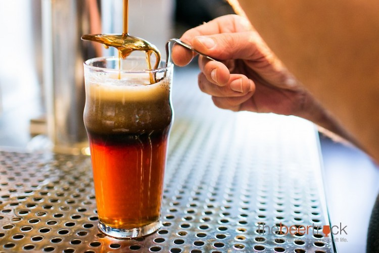 Founders makes a black and tan with Curmudgeon Old Ale and Nitro Oatmeal Stout.