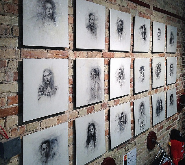 Nick Reszetar's portrait series offers a compelling experience for ArtPrize visitors.