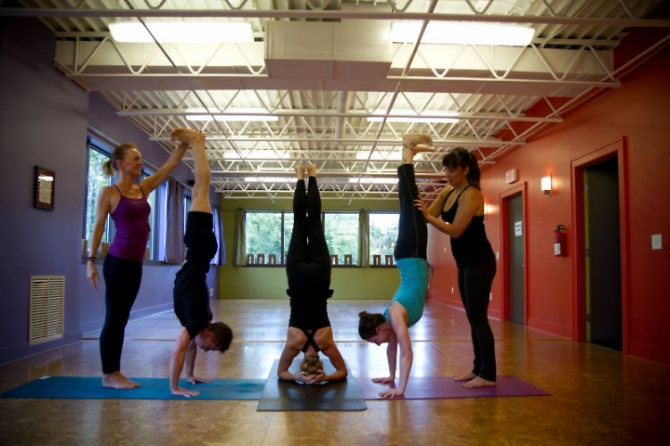 """""""Be A Yes"""" with inversions at The Funky Buddha"""