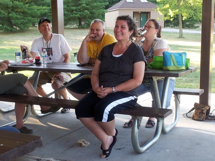 Word Weavers writing group's first annual summer picnic.