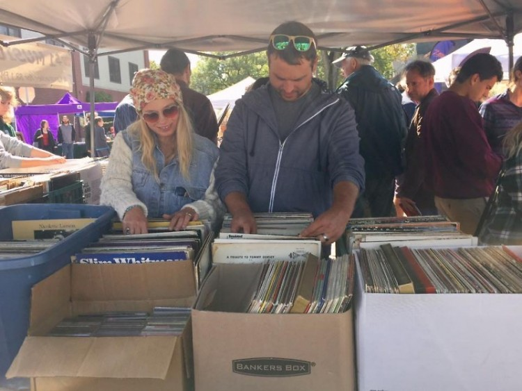 WYCE cd/record sale at the Eastown Streetfair