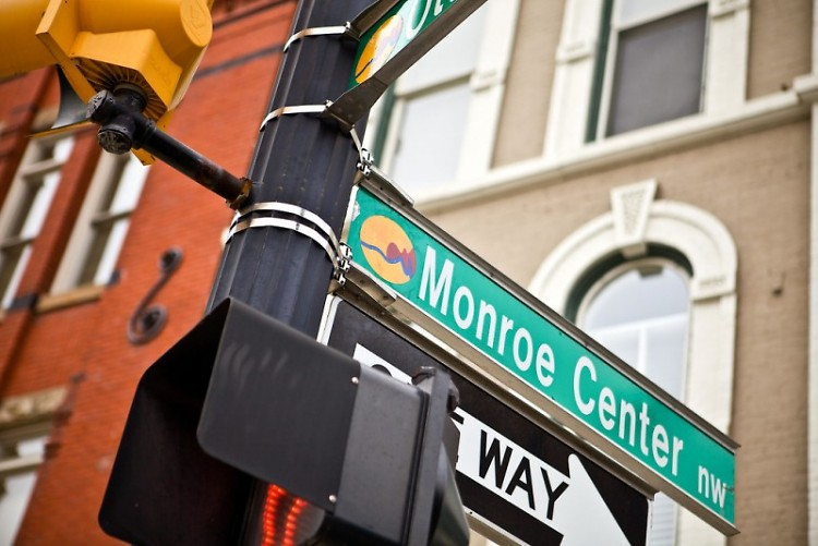 Monroe Center St. NW in downtown Grand Rapids.