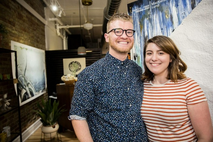 Matthew Provoast and Erika Townsley, Owners and Curators of Light Gallery + Studio during Art.Downtown 2017