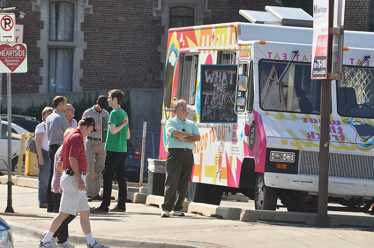What the Truck operates during ArtPrize