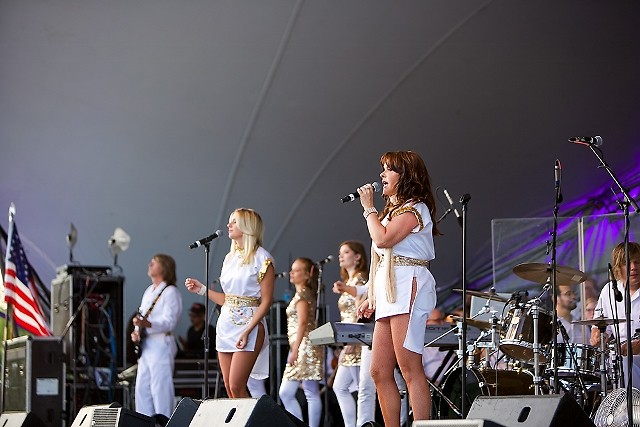 Arrival from Sweden joined the Grand Rapids Pops for 'The Music of ABBA' on Thursday, July 13, at Cannonsburg Ski Area.