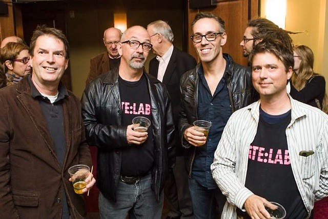 Tom Clinton, Bob Rogers, Paul Amenta and Michael Peoples at ArtPrize Awards Night 2014