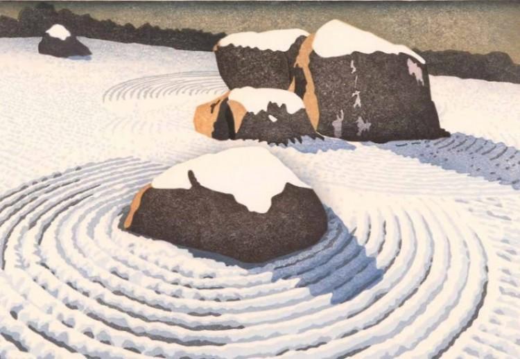 Mary Brodbeck. Blanket, 2016. Mokuhanga (Japanese woodblock print).