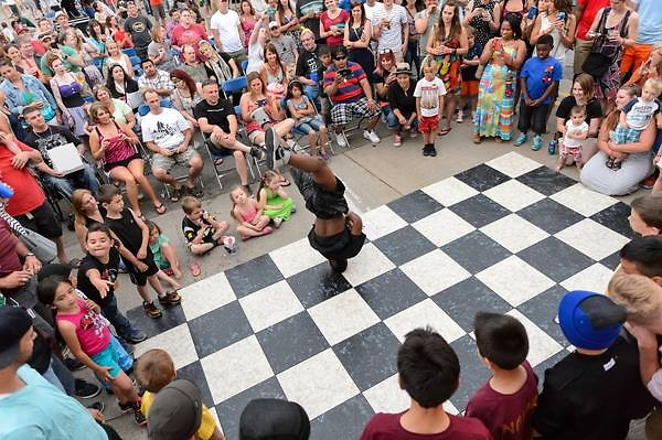 Breakdancing at the Street Party