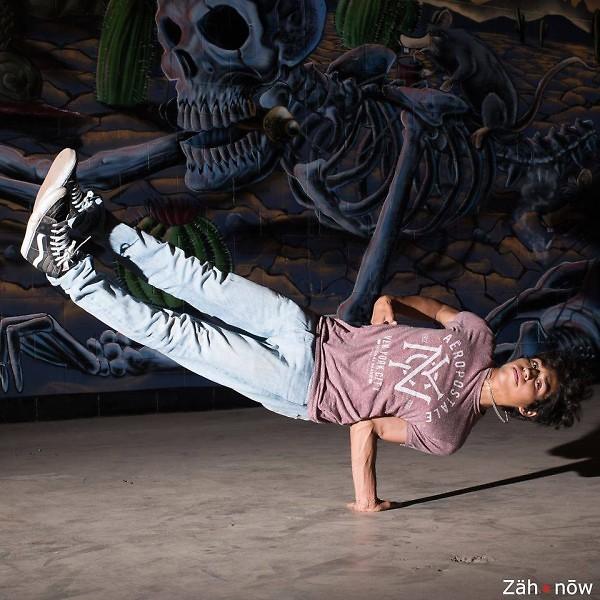 Antonio Jaimes, dancing at the Cultura Collective ArtPrize venue