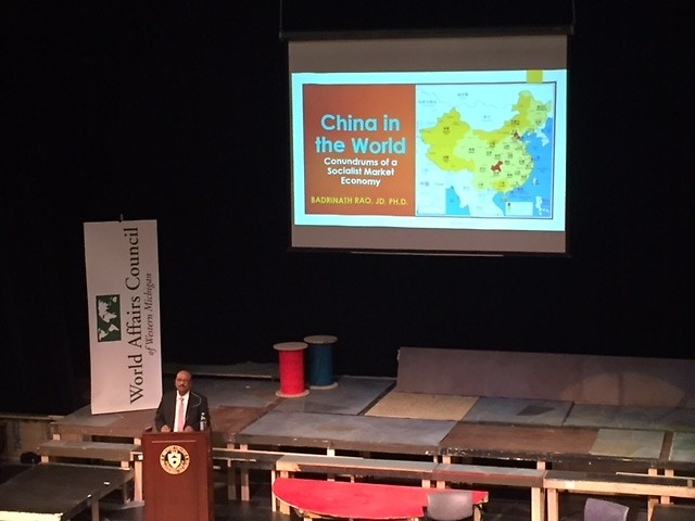 """Dr. Badri Rao examined China's achievements and challenges as a global economic power at the Feb. 5 """"Great Decisions"""" program."""