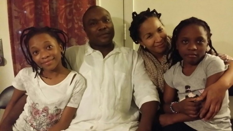 A Congolese family that settled in Grand Rapids through Lutheran Social Services of Michigan.