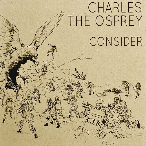 Artwork for Charles the Osprey's LP by Ryan G. Hill