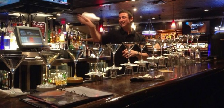 Bartender Dan Jeffers hones his flair ahead of the March 11 competition.