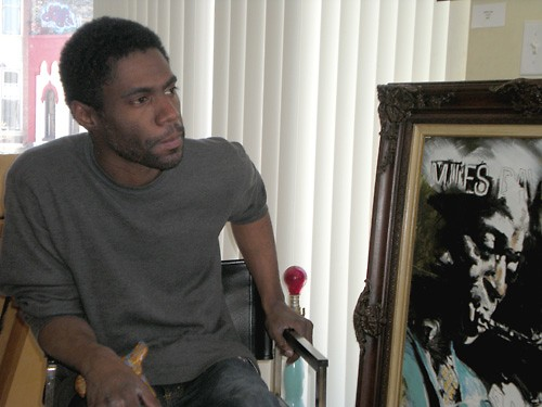 The articulate and soulful Derrick Hollowell, Grand Rapids artist