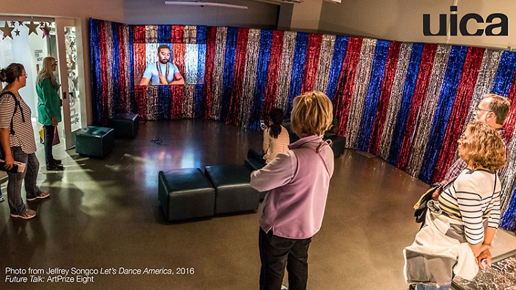 Guests view artwork during ArtPrize 8