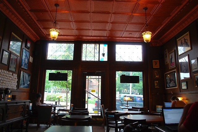 Inside the Bitter End Coffeehouse.