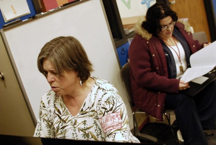 Margi Derks Peterson and Jennifer Velasco