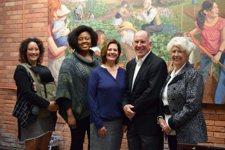 The five Encore Innovation Fellows are a dedicated, intergenerational group.
