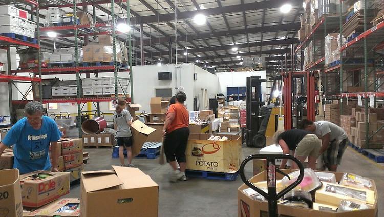Warehouse at Feeding America West Michigan