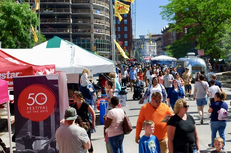 Festival of the Arts celebrates its 50th anniversary, Friday through Sunday, June 7-9, 2019, in Grand Rapids