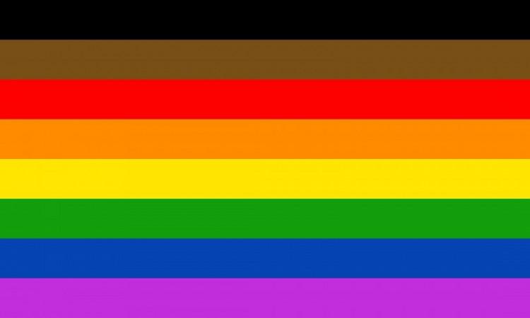 The #MoreColorMorePride flag revived in Philadelphia.