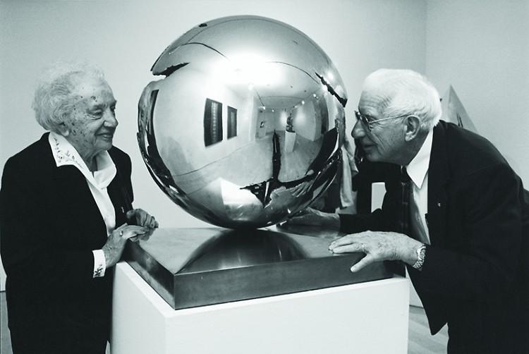 Lena & Fred Meijer in Milan, Italy studio of Arnaldo Pomodoro