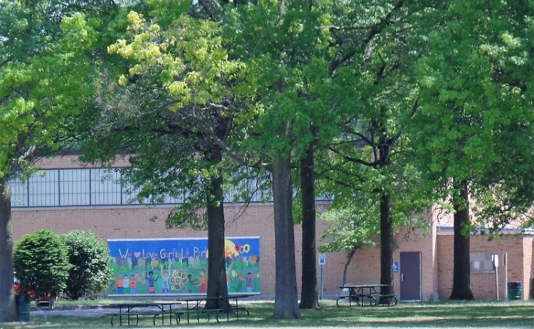 Garfield Park at the corner of Madison and Burton