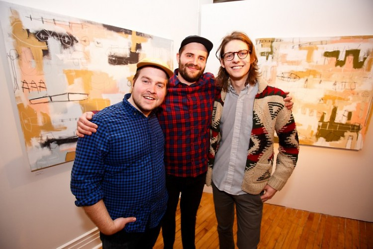 Chris Cox (L) and co-founders of Gaspard Gallery