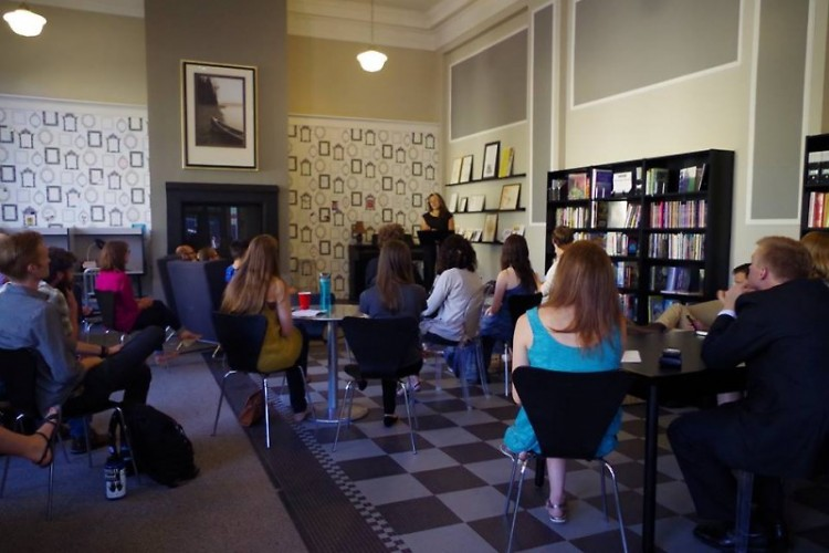The Writers Under 30 reading in July held in GLCL's beautiful, open venue.