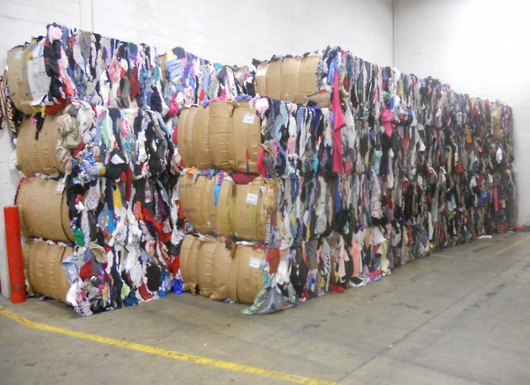Items that did not sell on the floors at Goodwill shops piled high in a Grandville warehouse.