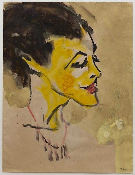 Emil Nolde, Face of a Woman, Grand Rapids Art Museum. © Nolde Stiftung Seebüll
