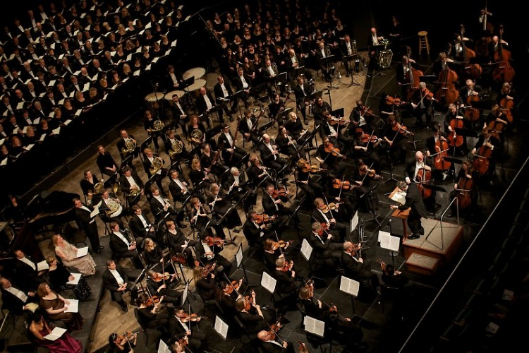 The Grand Rapids Symphony appears at Cornerstone University with the Cornerstone University Chorale.