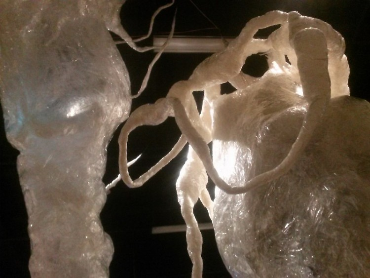 "Natalie Wetzel's ""Great Glob""  on display at KCAD's ""Icebreaker"" exhibit"