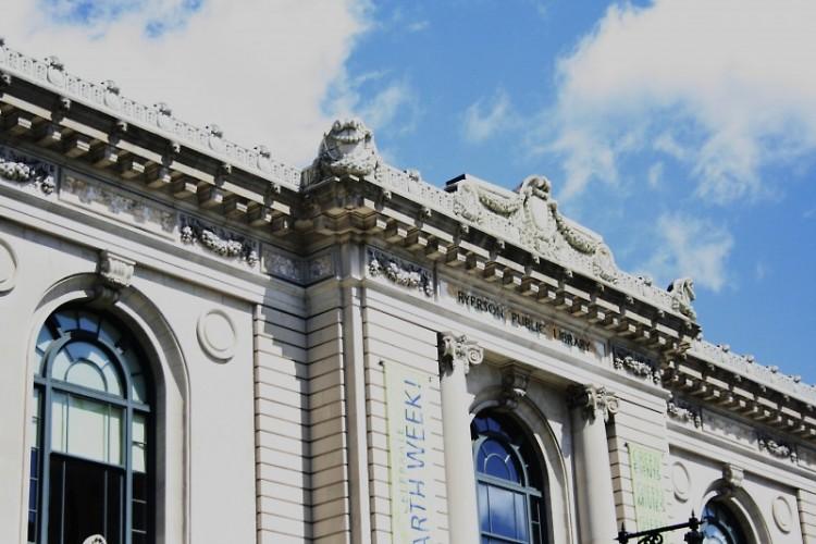"Grand Rapids Public Library. Photo courtesy of Rapidian Flickr user ""rachel"""
