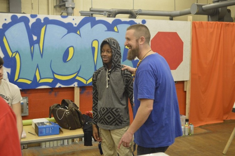 Matthew Duncan says he enjoys teaching students like John Newton what hip-hop culture really stands for