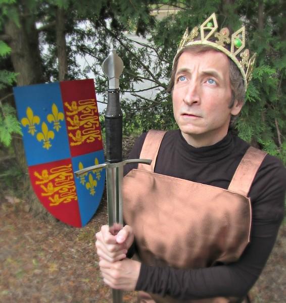 Paul Riopelle appears as King Henry in Henry V.