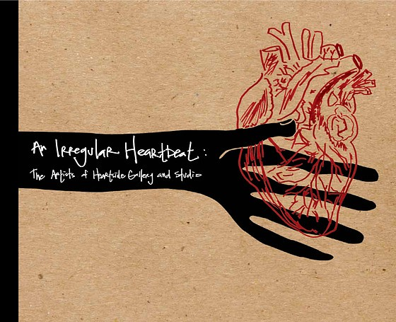 """An Irregular Heartbeat: The Artists of Heartside Gallery and Studio"" Book Cover Design"