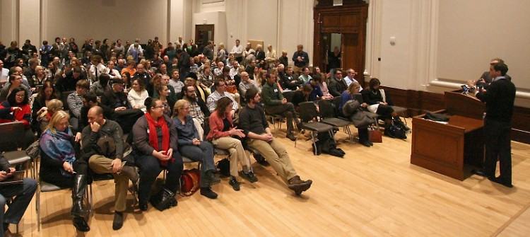 A packed house at the last speaker series event