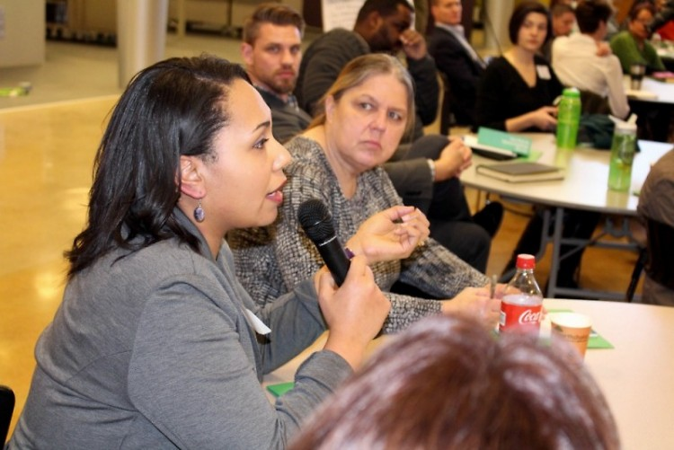 Ciciley Moore speaks up at the Strong Neighborhoods Summit