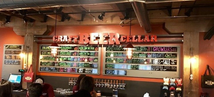 Bartenders pour from Craft Beer Cellar's twenty taps and educate patrons about their many craft beers and ciders.
