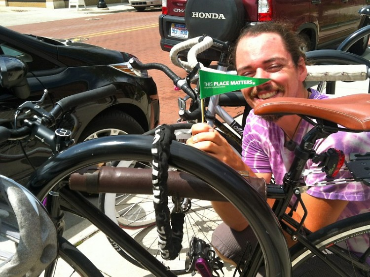 Todd Masker, avid cyclist and bike volunteer