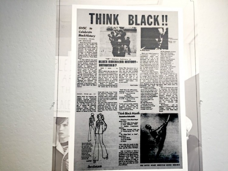 Pages from past publications at GVSU featuring student activism